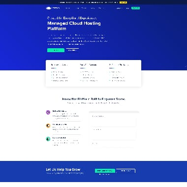 Cloudways HomePage Screenshot