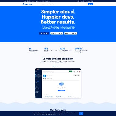 Digital Ocean HomePage Screenshot